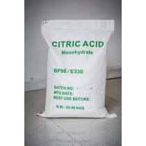 Picture of citric monohydrate in its strong durable bag.